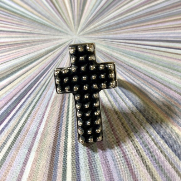 Femme Metale Jewelry - RARE Spiked Cross Sterling Femme Metale Ring 8